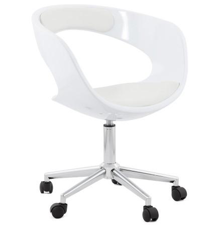 Witte bureaustoel 'STRATO' op wielen