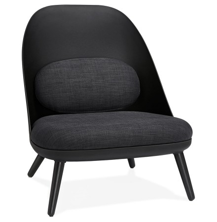 Design loungezetel 'TICOS' zwart