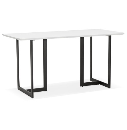 Eettafel / design bureau 'TITUS' van wit hout - 150x70 cm