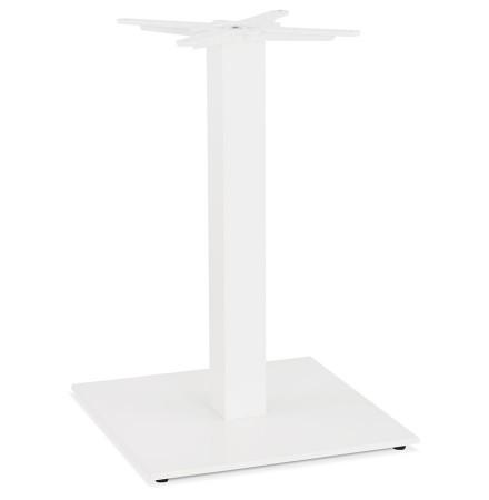 Vierkant tafelonderstel 'TOWER' 75 in wit metaal binnen-/buitenkant