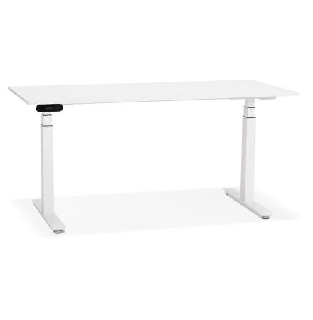 Witte verstelbare elektrische bureau 'TRONIK' - 160x80 cm