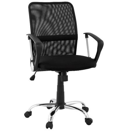 Zwarte bureaustoel 'TURIN' uit duurzaam gaas