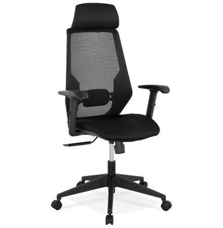Zwarte ergonomische design bureaustoel 'VEKTOR'
