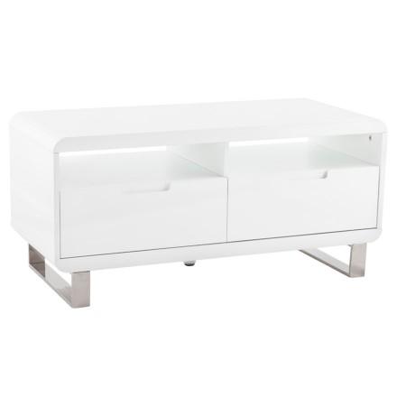 TV-meubel 'VIDEO' uit glanzend wit gelakt hout