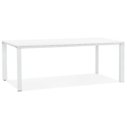 Vergader- / eettafel design 'XLINE' in wit hout - 200x100 cm