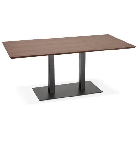 Design tafel / bureau 'ZUMBA' met notenhouten afwerking - 180x90 cm