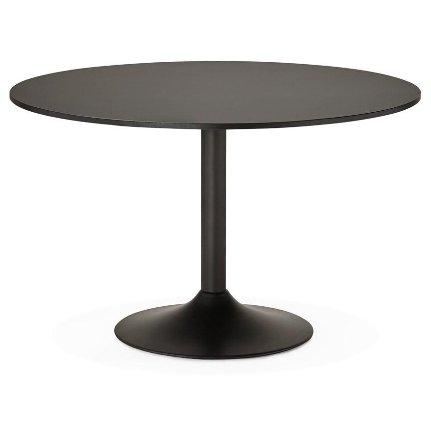 Bedwelming Ronde, zwarte bureautafel ATLANTA - 120 cm - Eettafel @GQ54