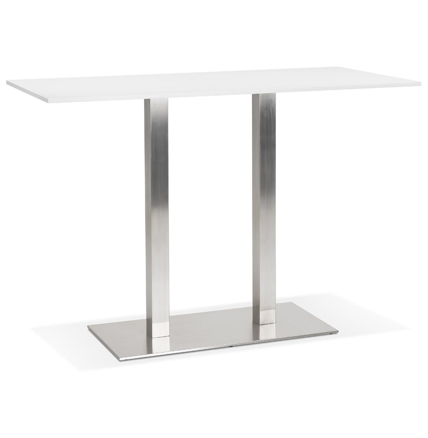 Moderne Witte Statafel.Witte Design Statafel Denver Bar Met Geborsteld Metalen Poot 160x80 Cm