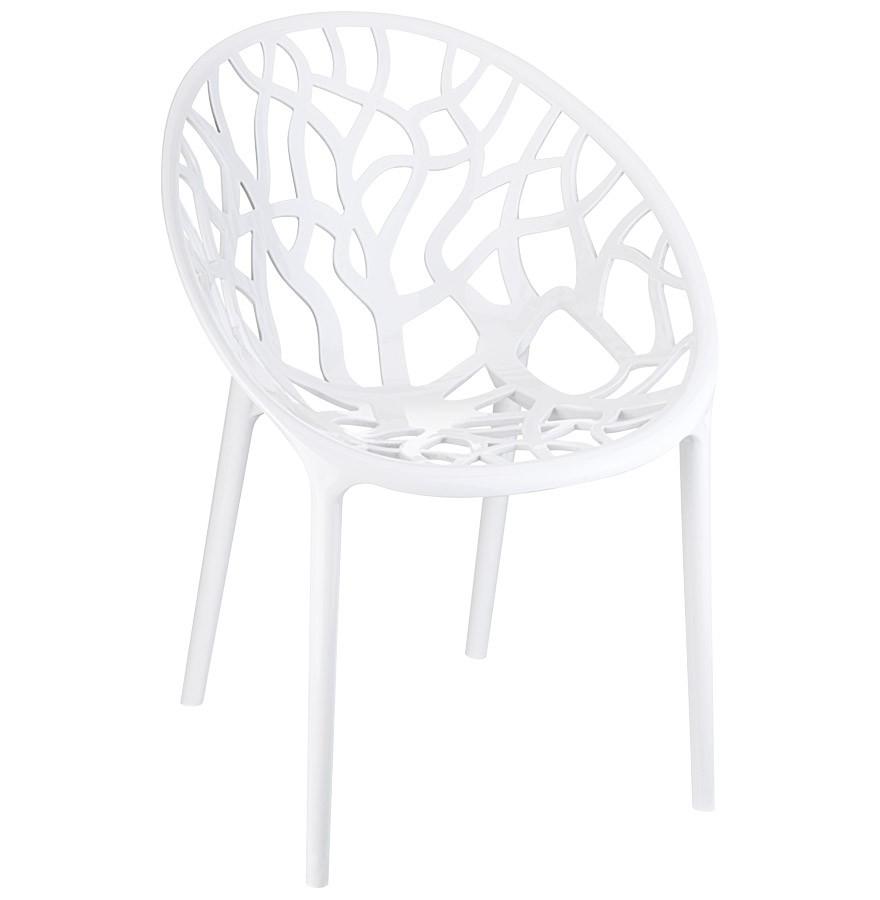Witte Kunststof Design Stoelen.Moderne Witte Stoel Geo Uit Kunststof
