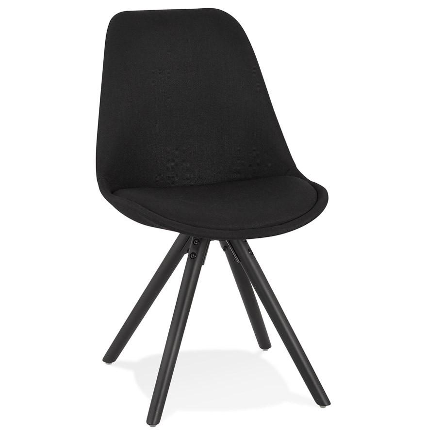 Moderne 'HIPHOP' stoel van zwarte stof en hout