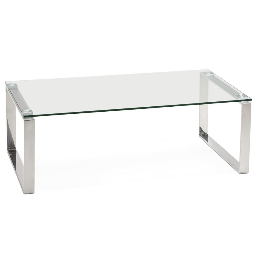 Lage salontafel in glas nebraska designtafel for Salontafel glas