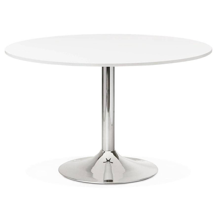 Uitzonderlijk Ronde, witte bureautafel SAOPOLO - 120 cm - Eettafel KW04