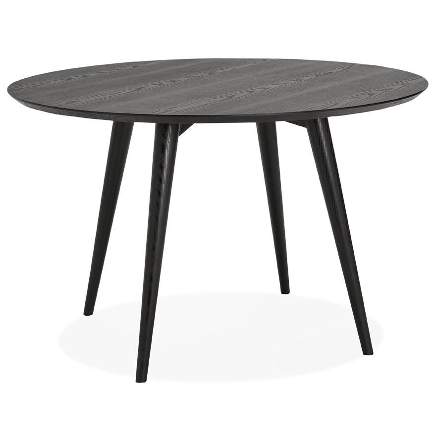 Ronde Salontafel Met Zwarte Poten.Ronde Eettafel Swedy Van Zwart Hout Design Tafel O 120 Cm