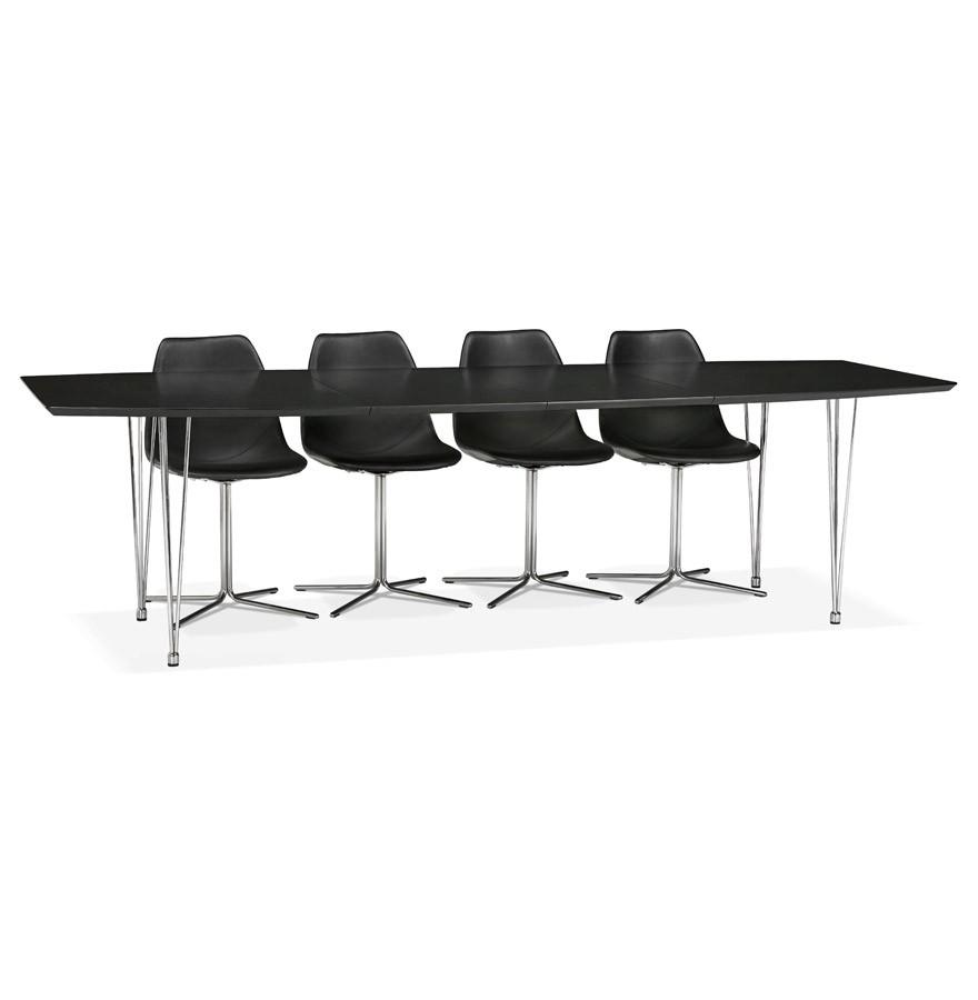 Zwarte Uitschuifbare Eettafel.Uitschuifbare Eettafel Vergadertafel Xtend Zwart 170 270 X100 Cm