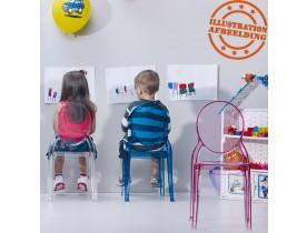 Roze transparante kinderstoel 'KIDS' uit kunststof
