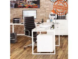 Design hoekbureau 'ALASKA' uit wit gelakt hout (hoek naar keuze)