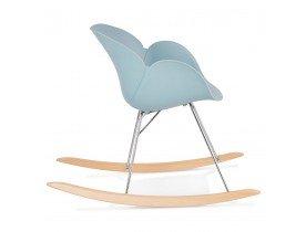 Design schommelstoel 'BASKUL' blauw van kunststof