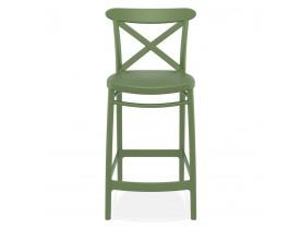 Halfhoge groene barkruk 'BERLIOZ MINI' in retro stijl