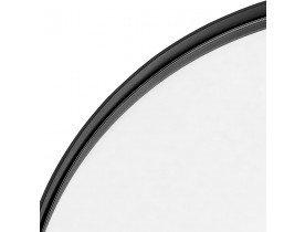 Zwarte ronde design spiegel 'BELLO' met metalen structuur