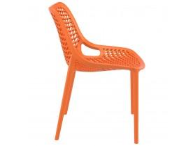 Moderne, oranje stoel 'BLOW' uit kunststof
