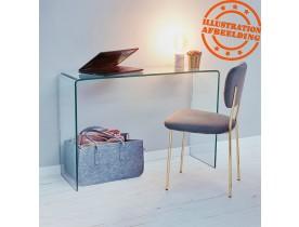 Design consoletafel 'BOBBY CONSOLE' van transparant glas