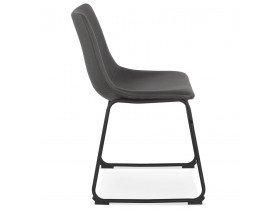 Vintage stoel 'BUFFALO' donkergrijs