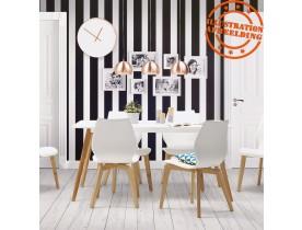 Rechthoekige keukentafel / bureau 'CANDY' wit - 160x90 cm