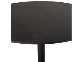 Ronde eettafel/bureautafel 'CHEF' met zwarte essenhouten afwerking - Ø 120 cm