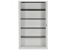 Hoge kantoorkast met roldeur 'CLASSIFY' grijs - 198x120 cm