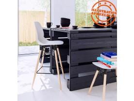 Design lage kruk 'ALADIN' wit Scandinavische stijl