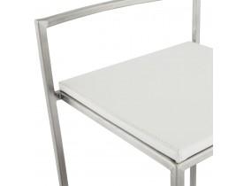 Witte, design barkruk 'DISKO' stapelbaar