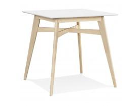 Statafel 'DORA' van wit en natuurlijk afgewerkt hout