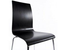 Design eetkamerstoel 'ESPERA' uit zwart geverfd hout
