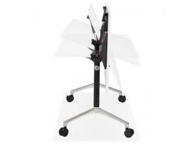 Groot opklapbaar bureau 'FLEXO' wit op wielen - 160x80 cm