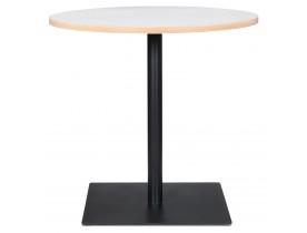 Witte ronde tafel 'FUSION ROUND' met zwart frame - Ø 80 cm