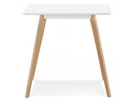 Kleine houten eettafel 'GENIUS' met witte afwerking - 80x80 cm