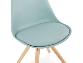 Blauwe, Scandinavische stoel 'GOUJA'