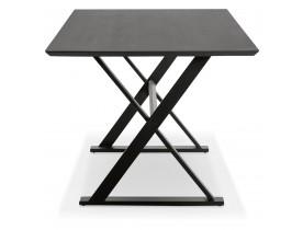 Eettagel / design bureau 'HAVANA' van zwart hout - 180x90 cm
