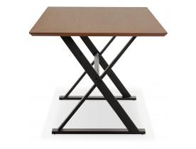 Met kruis-vormige voeten design eettafel / bureau 'HAVANA' van notenhout - 180x90 cm