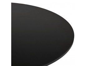 Lage loungetafel HOUSTON zwart - Ø 90 cm