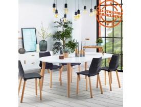 Ronde uitschuifbare eetkamertafel 'IGLOU' in Scandinavische stijl - 120(220)x120 cm