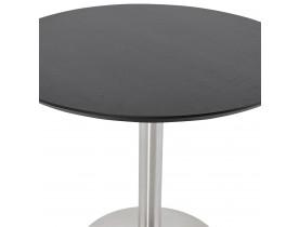 Kleine ronde bureautafel / eettafel 'INDIANA' zwart - Ø 90 cm