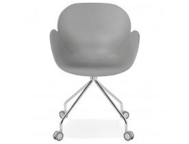 Design bureaustoel 'JEFF' grijs op wieltjes