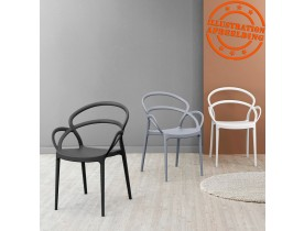 Zwarte design terrasstoel 'JULIETTE'