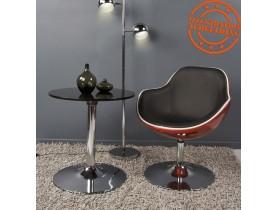 Rode en zwarte kuipstoel 'KOK' met draaibare zitschaal
