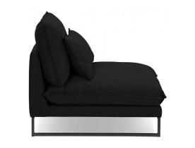 Grote loungefauteuil 'LASKA' van zwarte stof met 1 plaats