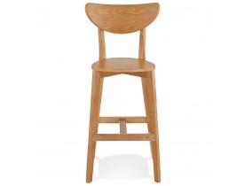 Barkruk 'LEONARDO' van natuurlijk afgewerkt hout - bestel per 2 stuks / prijs voor 1 stuk
