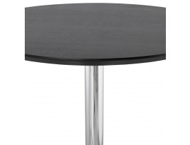 Staantafel / hoge tafel 'LIMA' zwart - Ø 90 cm