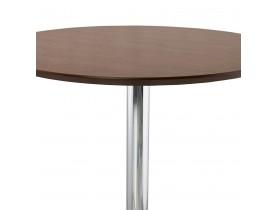 Staantafel / hoge tafel 'LIMA' met notenhouten afwerking - Ø 90 cm