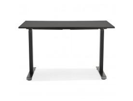 Kleine zit-/stabureau 'LIVELLO' van hout en zwart metaal - 120x60 cm
